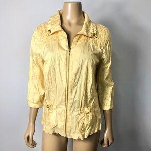 Zenergy by Chico's women's yellow full zip jacket